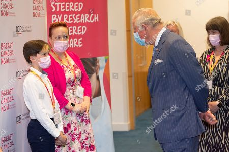 Editorial image of Prince Charles visits the Breast Cancer Now Toby Robins Research Centre, London, UK - 13 May 2021