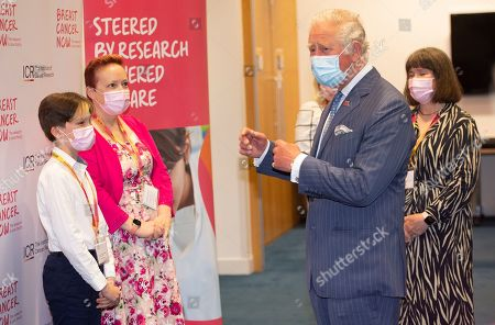 Prince Charles, Patron, will visit the Breast Cancer Now Toby Robins Research Centre, 21 years after HRH formally opened the research centre, to hear about achievements and how Covid-19 has impacted Breast Cancer Nowâs funded research. HRH meets Oscar Coulson-Starley (11) and mum Danni Starley (45) from Kent.