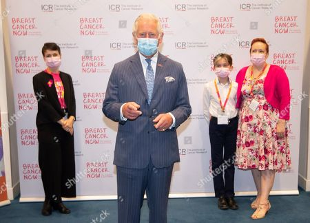 Stock Picture of Prince Charles, Patron, will visit the Breast Cancer Now Toby Robins Research Centre, 21 years after HRH formally opened the research centre, to hear about achievements and how Covid-19 has impacted Breast Cancer Nowâs funded research.