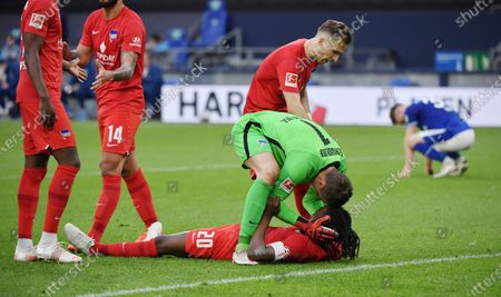 Editorial photo of FC Schalke 04 v Hertha Bsc Berlin, Bundesliga football match, Gelsenkirchen, Nordrhein West, Germany - 12 May 2021