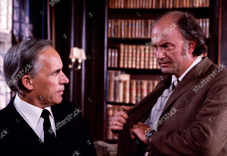 Link, as played by John Woodnutt, and Rafael Hendrick, as played by Iain Cuthbertson