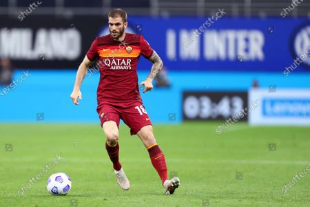 Stock Picture of Davide Santon of As Roma  in action
