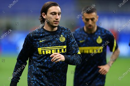 Matteo Darmian of Fc Internazionale  during warm up before the Serie A match between Fc Internazionale and As Roma.