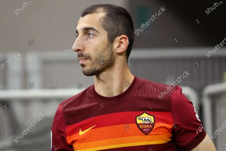 Henrikh Mkhitaryan of As Roma  during warm up before the Serie A match between Fc Internazionale and As Roma.