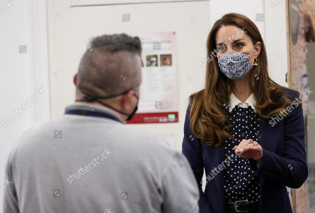 Catherine, Catherine Duchess of Cambridge visits Base25 to mark mental health awareness week in Wolverhampton