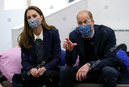 Prince William and Catherine, Catherine Duchess of Cambridge visit Base25 to mark mental health awareness week in Wolverhampton