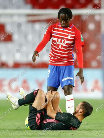 Eden Hazard of Real Madrid and Domingos Duarte of Granada CF