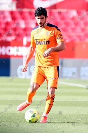 Goncalo Guedes of Valencia CF during the La Liga match between Sevilla FC and Valencia CF at Estadio Sanchez Pizjuan in Sevilla, Spain.