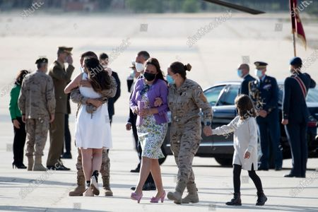 The last Spanish soldiers in Afghanistan have been received with honors by the King Felipe VI, Prime minister Pedro Sanchez, Defense Minister Margarita Robles and relativas after arrived to rthe Torrejon Air Force Base in Torrejon de Ardoz near Madrid