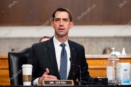 Editorial picture of Senate Armed Services Committee Hearing in Washington, US - 13 May 2021