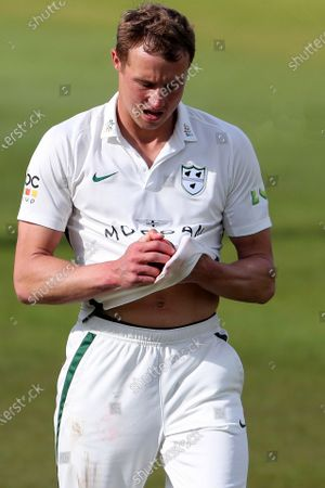 Worcetershire's Charlie Morris during the LV= County Championship match between Durham County Cricket Club and Worcestershire at Emirates Riverside, Chester le Street on Thursday 13th May 2021.