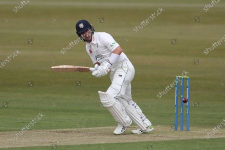 Durham's Will Young batting during the LV= County Championship match between Durham County Cricket Club and Worcestershire at Emirates Riverside, Chester le Street on Thursday 13th May 2021.