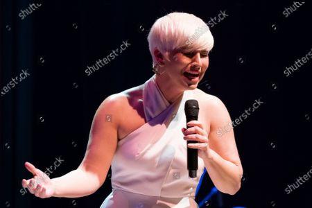 Spanish singer Pasion Vega performs on stage at Teatro Circo Price on May 13, 2021 in Madrid, Spain.