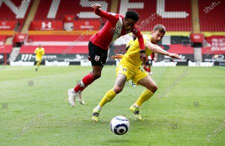 Joe Bryan of Fulham and Kyle Walker-Peters of Southampton.