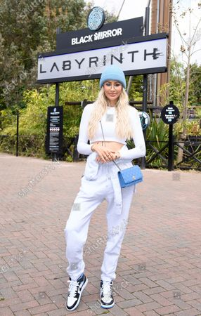 Reality star, Olivia Attwood, is the first person to experience the brand-new Black Mirror Labyrinth, the UK's first Black Mirror experience at THORPE PARK Resort.