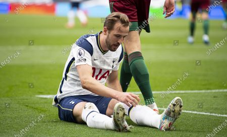 Stock Picture of Harry Kane of Tottenham Hotspur reacts