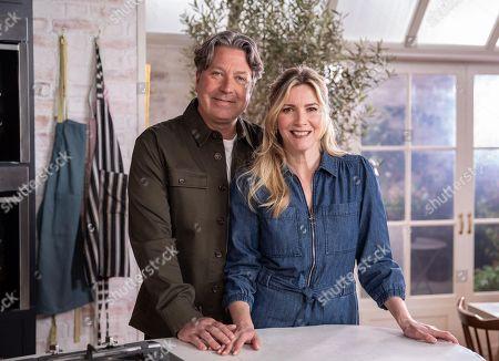 Stock Image of John Torode and Lisa Faulkner