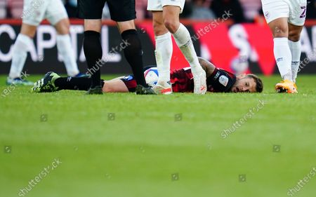 Jack Wilshere of Bournemouth after being fouled