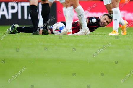 Stock Image of Jack Wilshere of Bournemouth after being fouled
