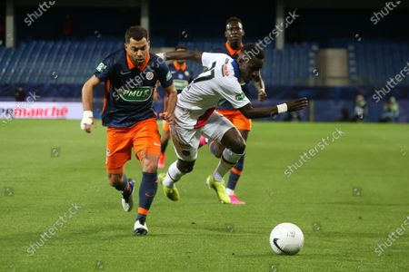 PSG's Idrissa Gueye during the French Cup semi-final football match between Montpellier (MHSC) and Paris Saint-Germain (PSG) at the Mosson stadium in Montpellier, southern France, on May 12, 2021.