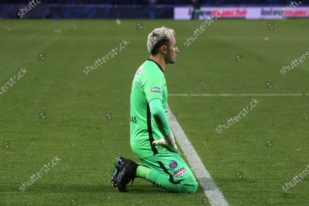 Stock Picture of PSG's Keylor Navas during the French Cup semi-final football match between Montpellier (MHSC) and Paris Saint-Germain (PSG) at the Mosson stadium in Montpellier, southern France, on May 12, 2021.