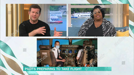 Dermot O'Leary, Alison Hammond and Brittany Baxter