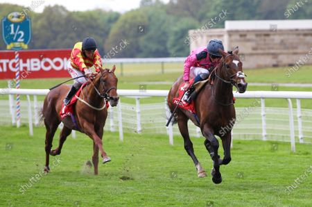 Stock Image of Spanish Mission and William Buick win the Matchbook Yorkshire Cup at York from Sir Ron Priestley.