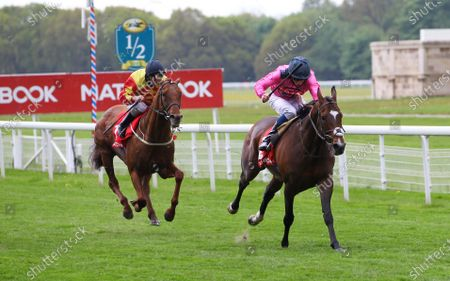Spanish Mission and William Buick win the Matchbook Yorkshire Cup at York from Sir Ron Priestley.