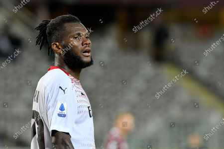 Stock Picture of Franck Kessie of AC Milan reacts