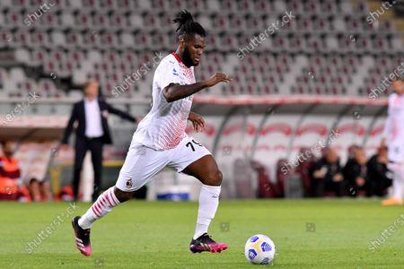 Franck Kessie of AC Milan in action
