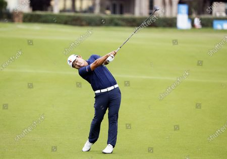 Sung Kang plays a shot from the 12th fairway during the second round of the AT&T Byron Nelson golf tournament in McKinney, Texas