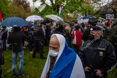 Editorial image of Palestine solidarity protest in Prague, Czech Republic - 14 May 2021