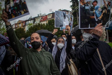 Editorial picture of Palestine solidarity protest in Prague, Czech Republic - 14 May 2021