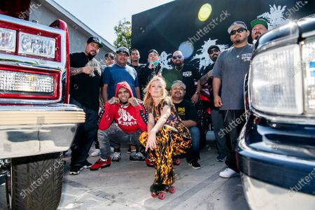 Editorial image of Portraits of people and cars during cruise night and car show at cupid's hot dogs, San Fernando Valley, Winnetka, California, United States - 24 Apr 2021