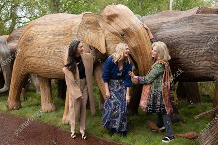 Donna Air, Amy Jackson and Joanna Lumley
