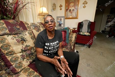 Gloria Green McCray, a younger sister of 17-year-old James Green, one of two men killed by lawmen on the morning of May 15, 1970, on the campus of Jackson State College, recalls her late brother as being both handsome and personable, at her home in Jackson, Miss. Green, a high school student was returning home from work at a convenience store, when killed along with 21-year-old Phillip Gibbs, a married Jackson State student. The school is awarding posthumous honorary doctorate degrees to Gibbs and Green during a Saturday, May 15, 2021, graduation for members of the Class of 1970, whose own graduation was canceled following the violent incident