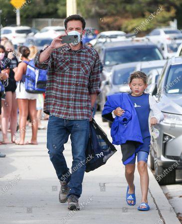 Ben Affleck takes son Samuel Affleck to a swim lesson