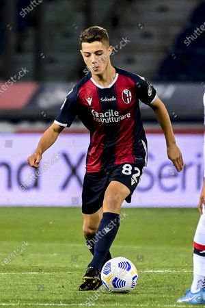 "Urbanski Kacper (Bologna)  Marko Pjaca (Genoa)           during the Italian ""Serie A match between Bologna 0-2 Genoa at  Renato Dall Ara Stadium in Bologna, Italy."