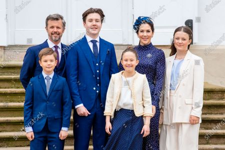 Crown Prince Frederik, Crown Princess Mary, with their children Prince Christian, Princess Isabella, Prince Vincent and Princess Josephine