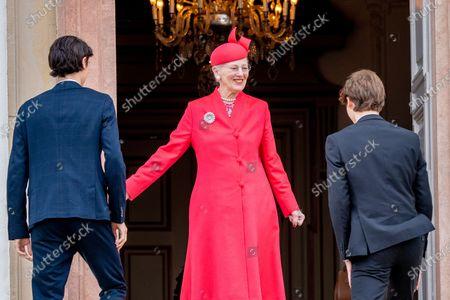 Queen Margarethe of Denmark with Prince Nikolai and Prince Felix