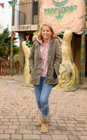 Editorial image of Celebrities enjoy Theme Park thrills at Chessington World of Adventures Resort on new for 2021 drop tower, Croc Drop, Surrey, UK - 15 May 2021