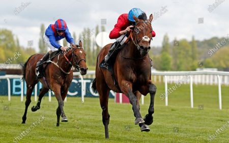 Stock Picture of BAY BRIDGE (Ryan Moore) wins The BetVictor London Gold Cup Newbury