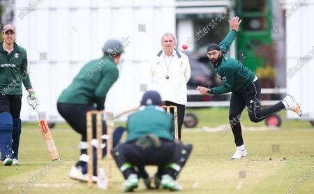 Editorial picture of Monty Panesar, Twickenham CC 1st XI v Teddington CC 1st XV, Middlesex County Cricket League - 1st XI Premier Division, Twickenham Green, London, UK - 15 May 2021