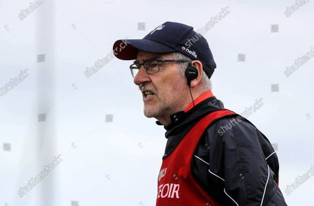 Louth vs Antrim. Louth's manager Mickey Harte