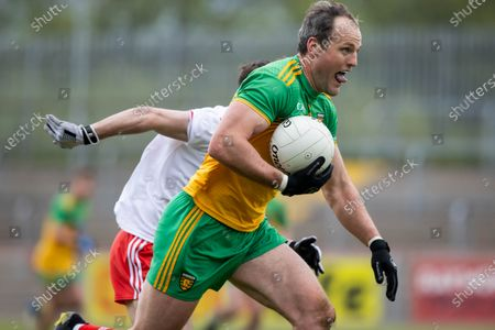 Tyrone vs Donegal. Donegal's Michael Murphy