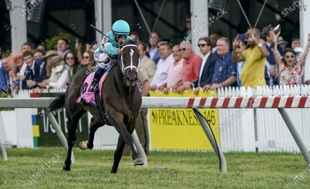 , 2021, Baltimore, MD, USA: T D Dance, #8, ridden by jockey Javier Castellano, wins the James W. Murphy Stakes on Preakness Stakes Day at Pimlico Race Course in Baltimore, Maryland. John Voorhees/Eclipse Sportswire/CSM