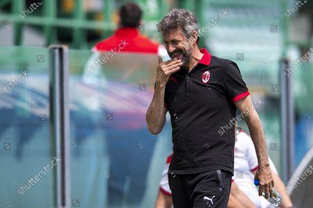 "Maurizio Ganz Coach (Milan)               during the Italian Womens ""Serie A  match between Sassuolo Women 0-0 Milan Women  at  Enzo Ricci Stadium in Sassuolo, Italy."