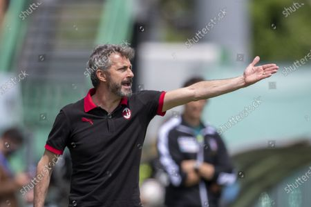 """Stock Image of Maurizio Ganz Coach (Milan)               during the Italian Womens """"Serie A  match between Sassuolo Women 0-0 Milan Women  at  Enzo Ricci Stadium in Sassuolo, Italy."""