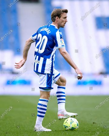 Stock Picture of Nacho Monreal Eraso of Real Sociedad CF in action during the La Liga match between Real Sociedad and Real Valladolid CF  at Reale Arena on May 16, 2021 in San Sebastian, Spain.