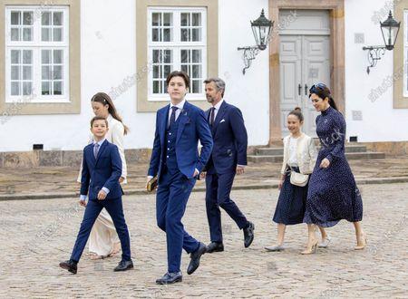 Crown Princess Mary and Crown Prince Frederik and Prince Christian and Princess Isabella and Prince Vincent and Princess Josephine.